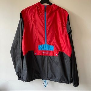 Columbia Color Block Windbreaker 1/2 Zip Jacket